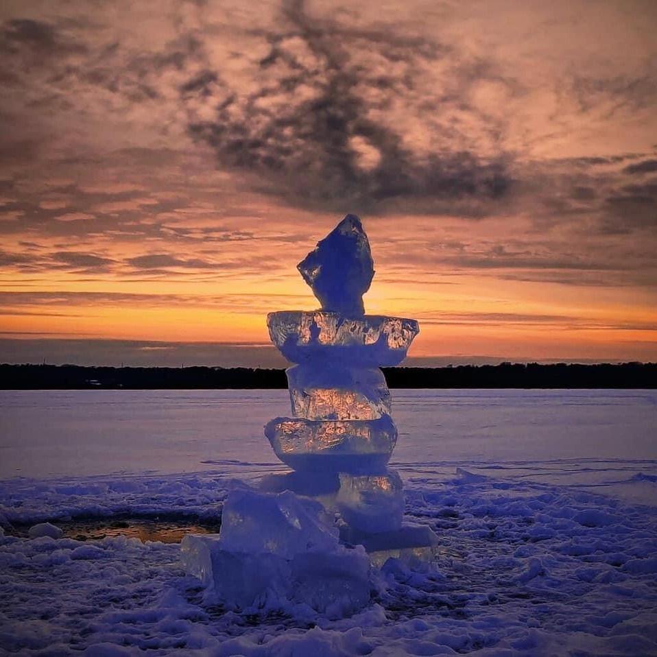 Ice Sculpture on Lake Mendota Photo provided by Marcie Samuelsen