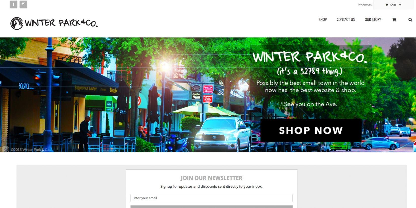 web page design - WinterparkCo
