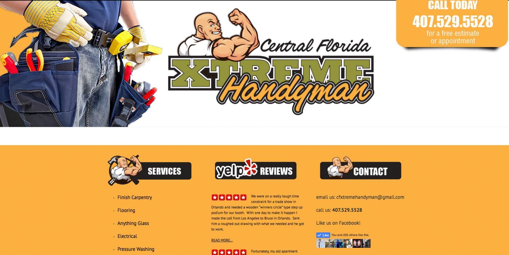 web page design - Xtremehandyman