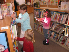 Kid to library two