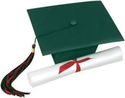 Graduation-cap-green