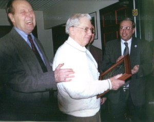 Pictured from left are the late Bill Cole and Sonny Centner, pictured here at an awards ceremony last year with Sullivan Supervisor John M. Becker.