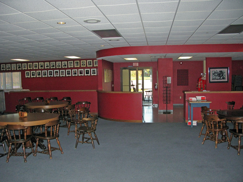 Clubroom is 4100 sq. feet. Maximum occupancy is 160 people. Tables and chairs are included with rental of clubroom.
