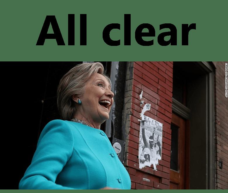 Breaking: FBI Clears Clinton