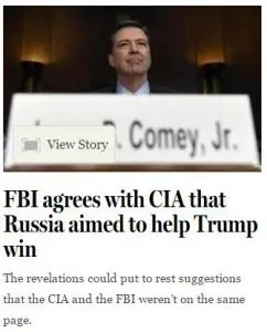 FBI agrees with CIA that Russia aimed to help Trump win