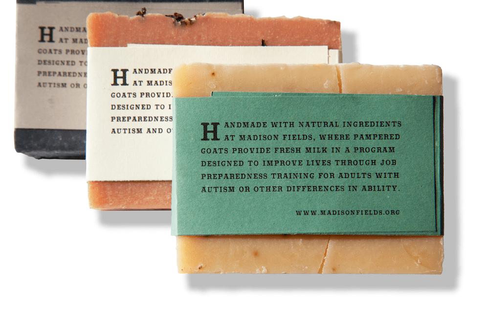 Handmade goat milk soap by Madison Fields