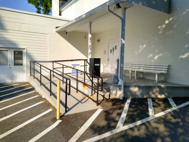 Parking available at the rear entrance