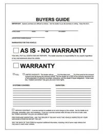 Car Dealership[; Buyer's Guide