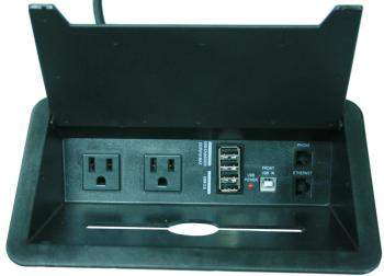Conference Table Electrical Power Outlet And Data Port Module