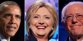Obama, Clinton & Sanders