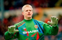 Sport. Football. pic: 10th April 1994. FA. Cup Final Semi-Final. Manchester United 1 v Charlton Athletic 1. a.e.t.  Peter Schmeichel, Manchester United goalkeeper. Peter Schmeichel, was the Denmark goalkeeper 1987-2001, winning 129 Denmark international caps.