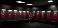 Man U . Ryan Giggs in Man U Dressing room