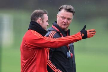 Rooney & Van Gaal . Pic by Michael Regan:Getty Images