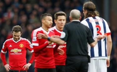 Juan Mata sent off