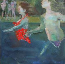 Jump, Jump, Jump 2012 oil on canvas 16 x 16