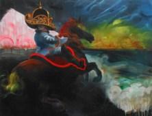 The Petty Tyrant 2017 acrylic, pastel on canvas 40 x 52