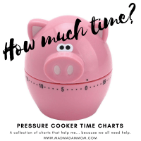 Food: Instant Pot / Pressure Cookers - Cook Times