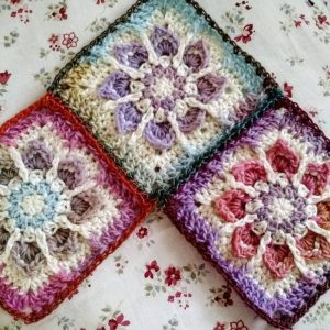 Yardage for the Winter Flower Granny