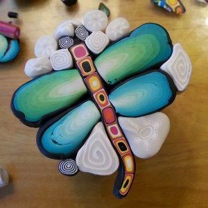 dragonfly translucent polymer clay