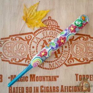 Love Handle Crochet Hook - Bates H - Floral Rainbow