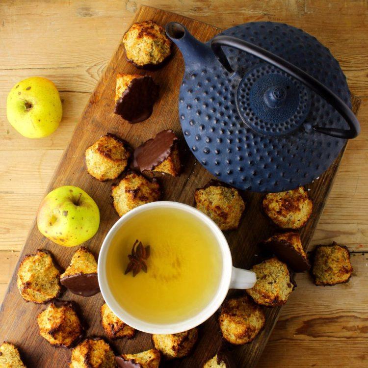 Kokostoppe med æble og hasselnødder - Glutenfri opskrift - Mad med glød