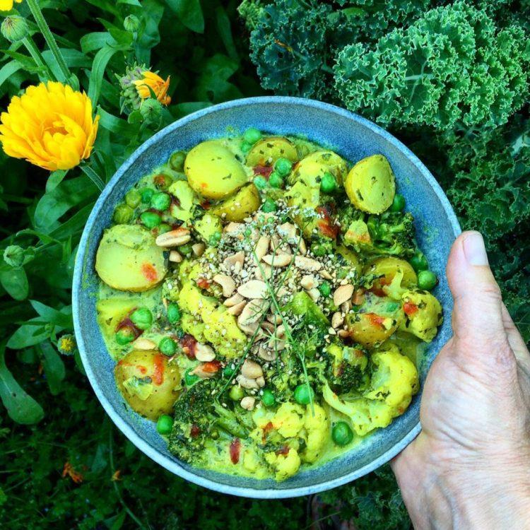 Indisk grønsagscurry - Plantebaseret / Vegansk opskrift - Mad med glød