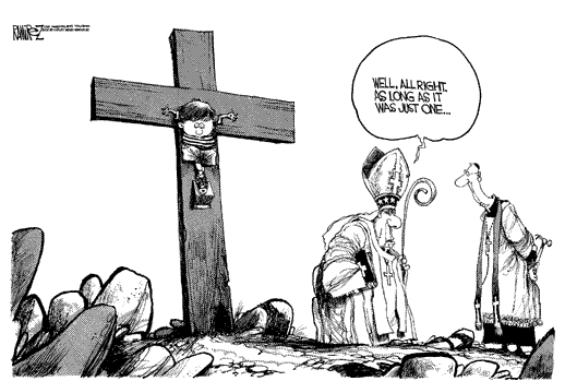 Clerical sexual abuse, cartoon