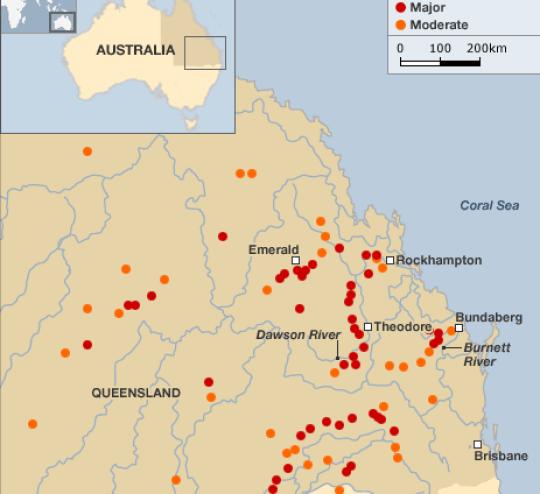 queensland floods australia tropical