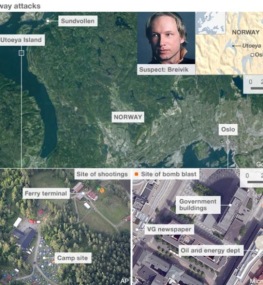 Anders Behring Breivik, oslo norway attacked
