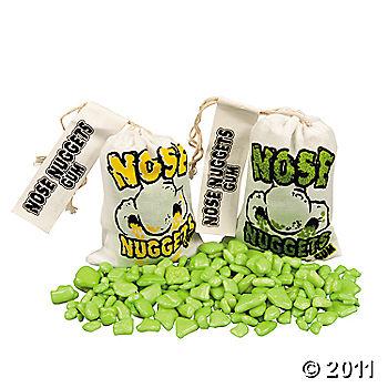 Weird candy nose nuggets