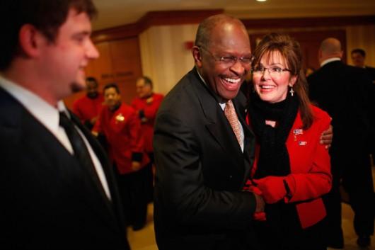 Herman Cain and Sarah Palin