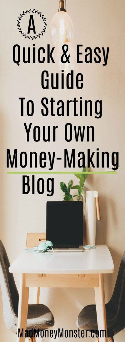 Side Hustle | Blogging | Extra Money | Work From Home | Second Job via @MadMoneyMonster