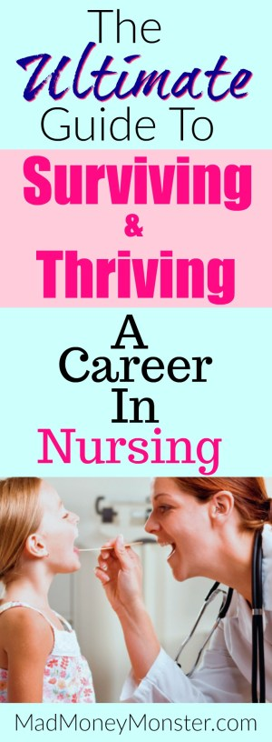 Nursing School | Careers In Nursing | Nursing Career | Nursing Survival Tips via @MadMoneyMonster