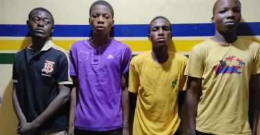 Four suspected rapists arrested by the police