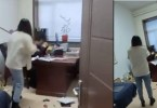 Chinese Woman Beats Up Her Boss With A Mop Stick For Sending Her Inappropriate Sexual Texts (Videos)