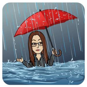"Bitmoji ""im Regen..."""