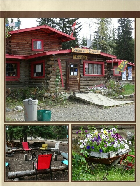 "bei der ""Moose Creek Lodge"" am Weg nach ""Dawson City"""