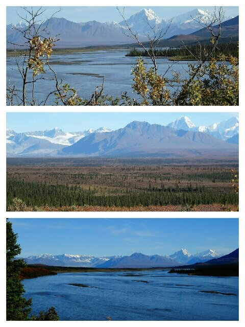 """Impressionen von der Fahrt die """"Alaska Range"""" (USA) entlang"""