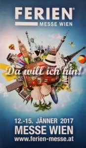 Plakat der »Ferien-Messe Wien« 12. bis 15. Jänner 2017