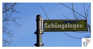 """Straßenschild """"Schöngelegen"""" - entdeckt auf der Margarethenhöhe in Esse"""