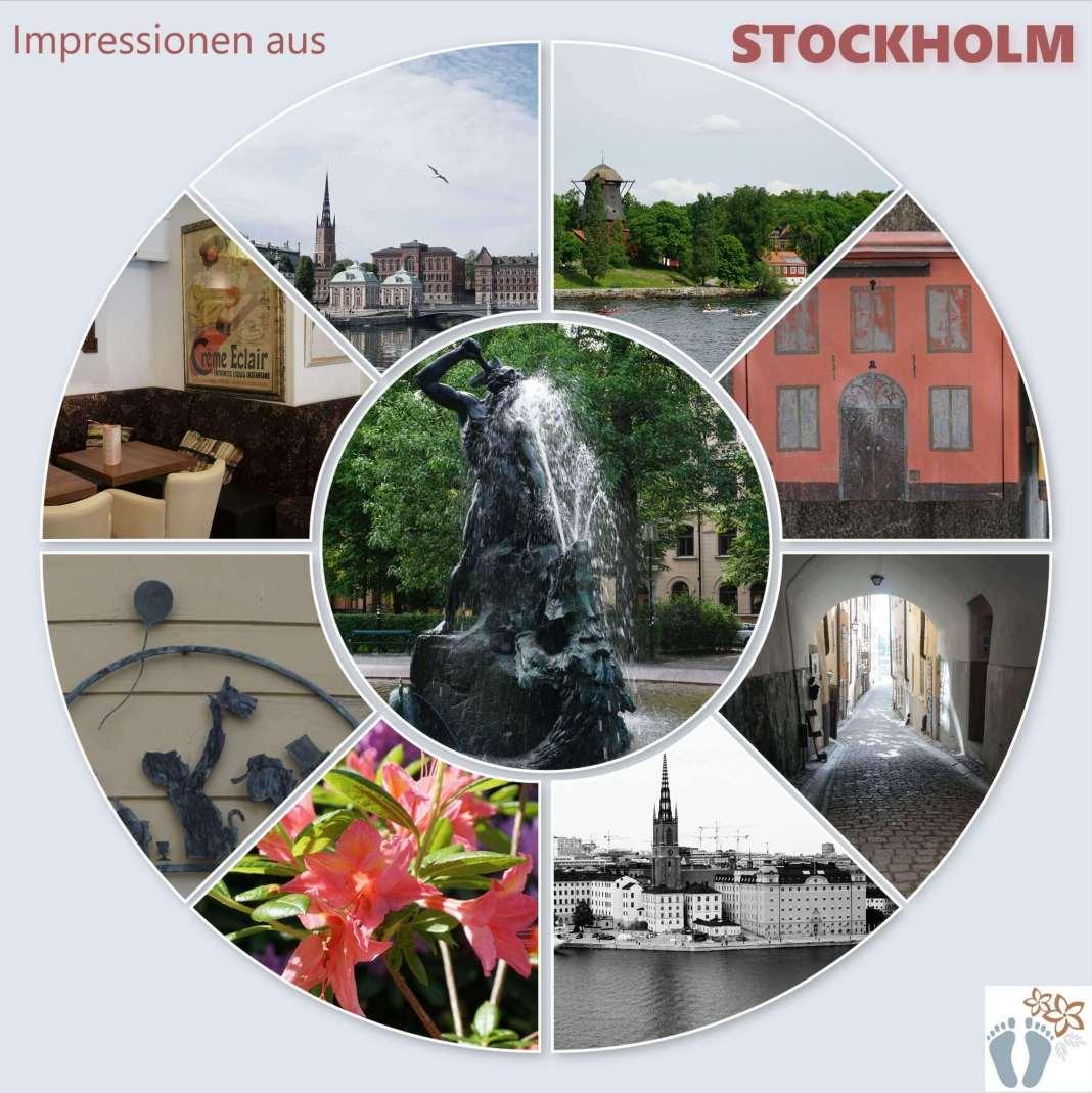 Collage: Impressionen aus Stockholm