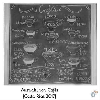 Auswahl von Cafés {Costa Rica 2017}