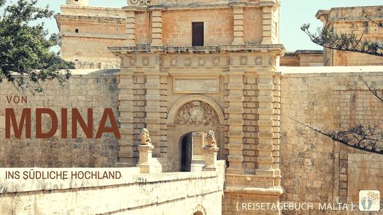 Reisetagebuch Malta: Tag 02: Blick auf das «Haupttor» von «Mdina»