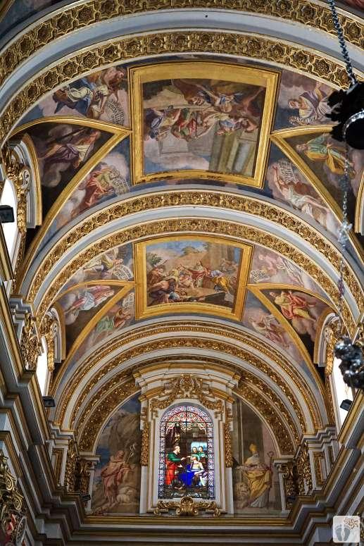 Reisetagebuch Malta: Tag 02: «Mdina»: «St. Paul's Cathedral»: Deckengemälde