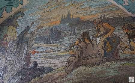 Mosaikverzierungen in der Haupteingangshalle des «Altstädter Rathaus» {Reisetagebuch Prag}