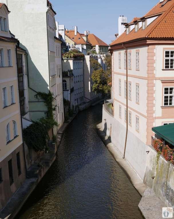 Čertovka-Kanal: trennt die «Kleinseite» von der Insel «Kampa» {Reisetagebuch Prag}