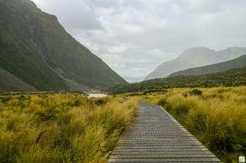 Wanderweg «Hooker Valley Track» {Reisetagebuch «Roadtrip durch Neuseeland mit dem Bus»: Aoraki-Mount Cook}