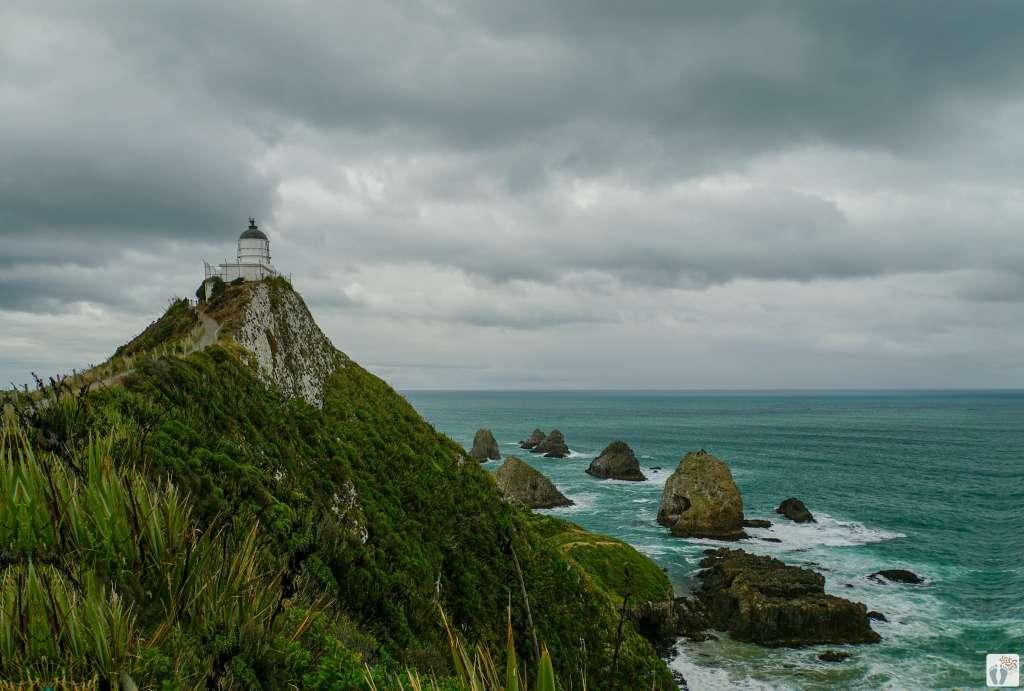 Leuchtturm am «Nugget Point» {Reisetagebuch «Roadtrip durch Neuseeland mit dem Bus»: «Catlins Coast»}