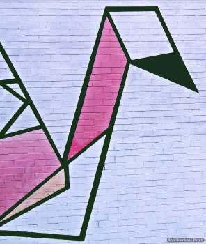 Flamingo abstrakt - pink - schwarz