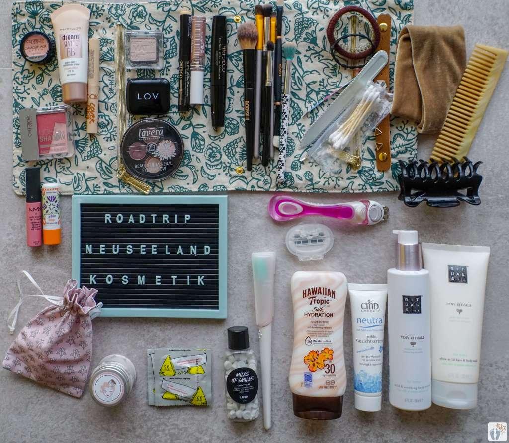 """Packliste """"Hygiene-Kosmetik"""" {46 Tage Roadtrip durch Neuseeland mit dem Bus}"""